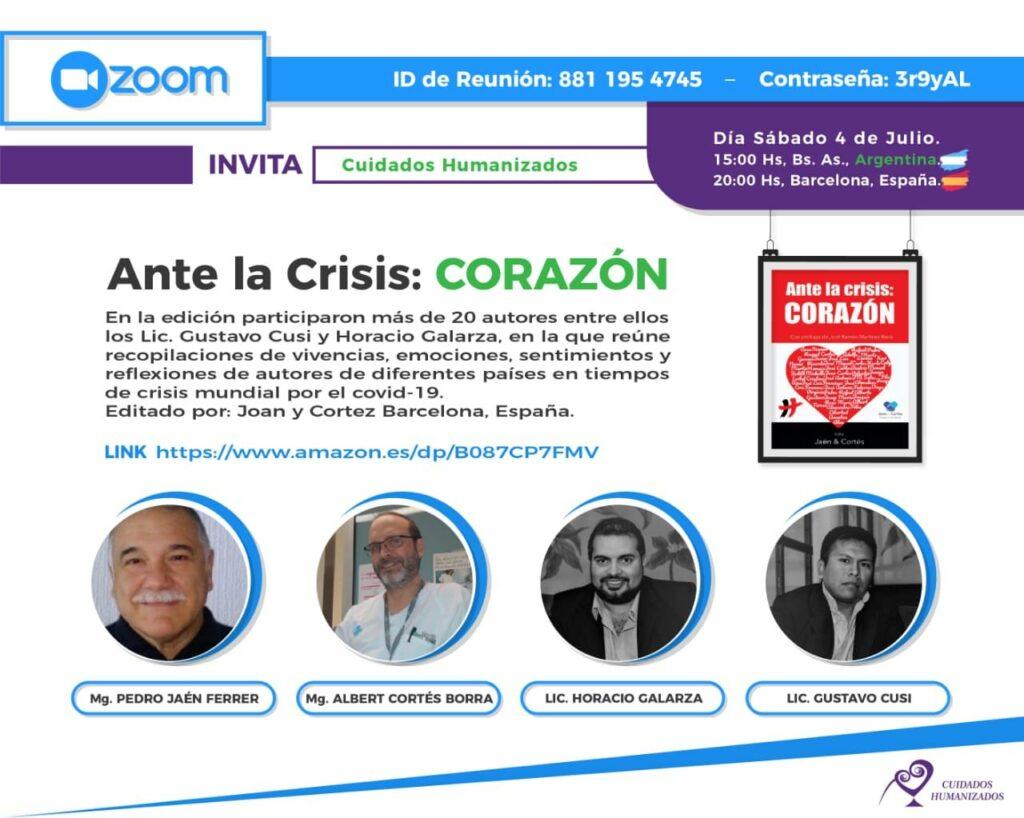 Presentación de Ante la crisis: CORAZÓN en Argentina
